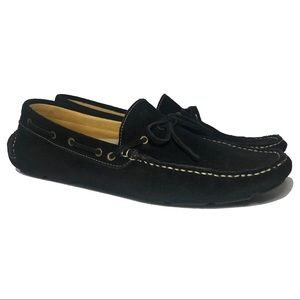 Driving Loafers Moccasins Black Suede US 11
